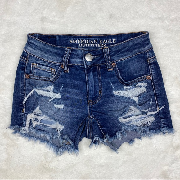 American Eagle Outfitters Pants - American Eagle Distressed Ripped Midi Short